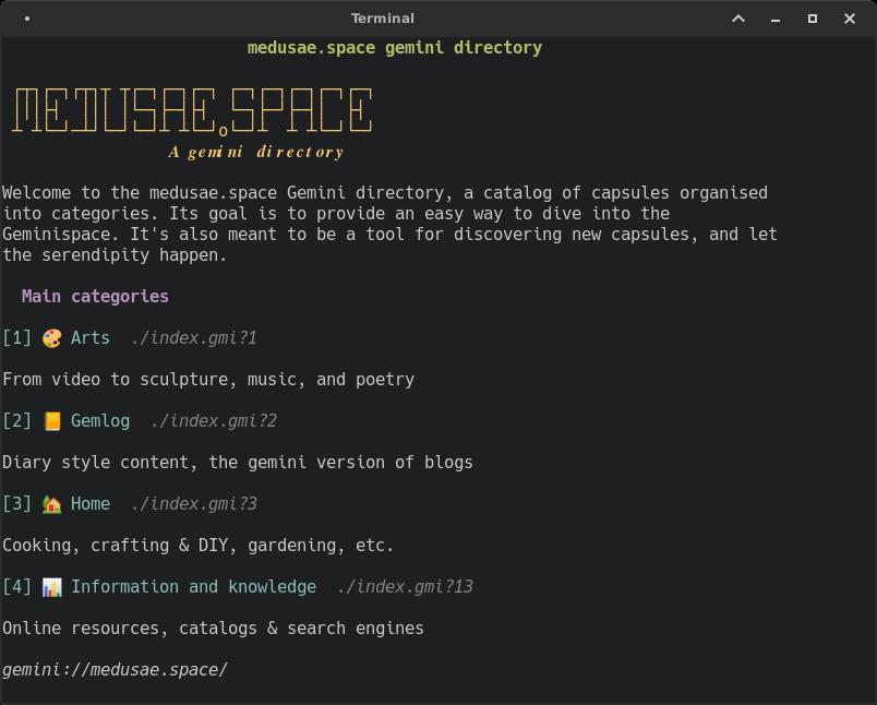 browsing Medusae screenshot