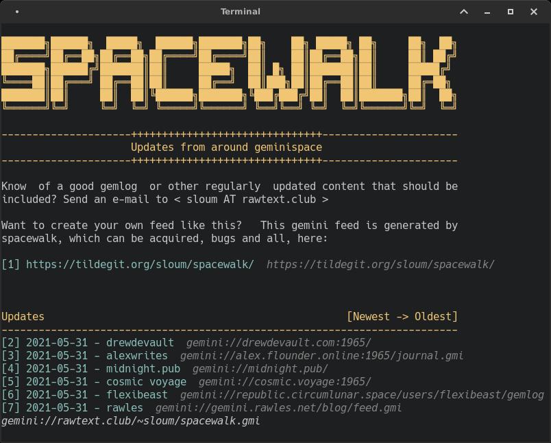 browsing Spacewalk screenshot